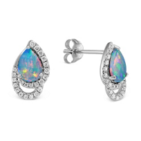 14K_White_Gold_Pear_Shape_Opal_and_Round_Diamond_Earrings