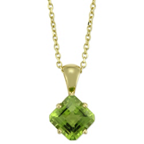 14K_Yellow_Gold_Square_Checkerboard_Peridot_Pendant,_7mm