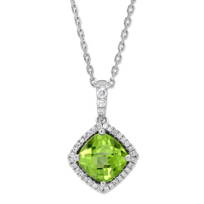 14K_White_Gold_Cushion_Checkerboard_Peridot_and_Diamond_Pendant