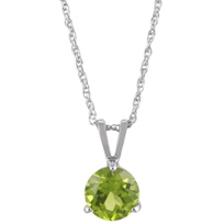 14K_White_Gold_Round_Peridot_Solitaire_Pendant,_5mm