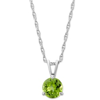 14K_White_Gold_Peridot_Solitaire_Pendant,_6mm
