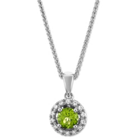 14K_White_Gold_Peridot_and_Round_Diamond_Halo_Pendant