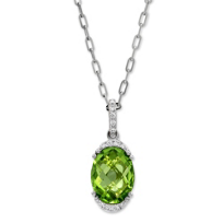 14K_White_Gold_Oval_Peridot_and_Round_Diamond_Pendant