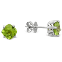 14K_White_Gold_Cushion_Checkerboard_Peridot_Stud_Earrings,_6mm