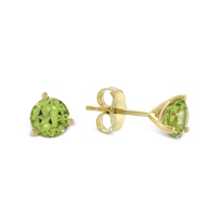 14K_Yellow_Gold_Round_Peridot_Stud_Earrings,_5mm
