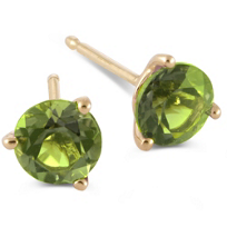 14K_Yellow_Gold_Round_Peridot_Stud_Earrings,_4mm