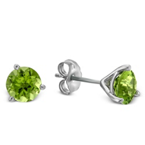 14K_White_Gold_Round_Peridot_Stud_Earrings,_6mm