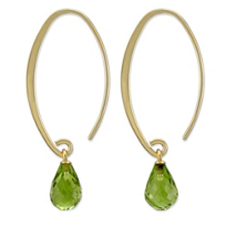 14K_Yellow_Gold_Briolette_Peridot_Drop_Earrings