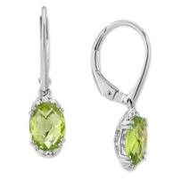 14K_White_Gold_Oval_Peridot_and_Round_Diamond_Drop_Earrings
