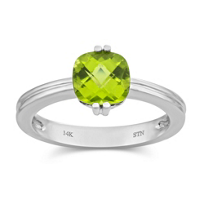 14K_White_Gold_Cushion_Cut_Peridot_Ring