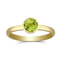 14K_Yellow_Gold_Bezel_Set_Round_Peridot_Ring