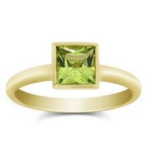 14K_Yellow_Gold_Bezel_Set_Princess_Cut_Peridot_Ring