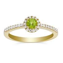 14K_Yellow_Gold_Peridot_and_Round_Diamond_Halo_Ring