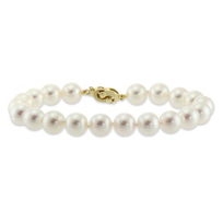 14K_Yellow_Gold_White_Cultured_Pearl_Bracelet,_8x8.5mm