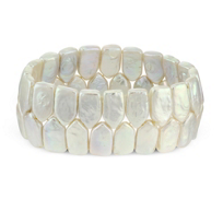 White_Freshwater_Shield_Shape_Coin_Cultured_Pearl_Bracelet