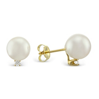 14K_Yellow_Gold_Cultured_Pearl_and_Diamond_Earrings,_8x8.5mm