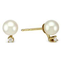 14K_Yellow_Gold_5mm_White_Cultured_Pearl_and_Diamond_Stud_Earrings