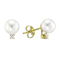 14K_Yellow_Gold_Cultured_Pearl_and_Diamond_Stud_Earrings