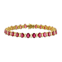 18K_Yellow_Gold_Ruby_and_Diamond_Bracelet,_7""