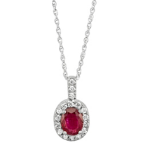 14K_White_Gold_Oval_Ruby_and_Round_Diamond_Pendant