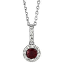 14K_White_Gold_5mm_Round_Ruby_and_Round_Diamond_Pendant