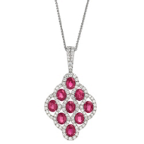 18K_White_Gold_Oval_Ruby_and_Round_Diamond_Pendant