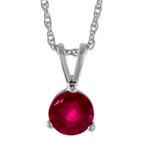 14K_White_Gold_Ruby_Pendant,_5mm