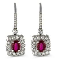 18K_White_Gold_Oval_Ruby_and_Round_Diamond_Dangle_Earrings