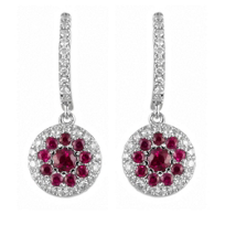 18K_White_Gold_Round_Ruby_and_Round_Diamond_Circle_Earrings