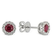 18K_White_Gold_Round_Ruby_and_Round_Diamond_Halo_Earrings