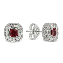 Christopher_Designs_18K_White_Gold_Cushion_Ruby_and_Round_Diamond_Earrings
