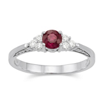 14K_White_Gold_Round_Ruby_and_Round_Diamond_Ring