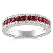 18K_White_Gold_Round_Ruby_and_Round_Diamond_Three_Row_Ring