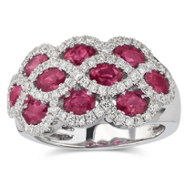 18K_White_Gold_Three_Row_Oval_Ruby_and_Round_Diamond_Ring