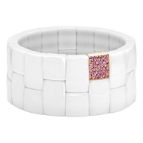 Roberto_Demeglio_18K_Rose_Gold_White_Ceramic_and_Pink_Sapphire_Stretch_Bracelet