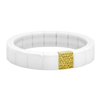 Roberto_Demeglio_18K_Yellow_Gold_White_Ceramic_Yellow_Sapphire_Stretch_Bracelet