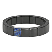Roberto_Demeglio_18K_White_Gold_and_Ceramic_Sapphire_Stretch_Bracelet