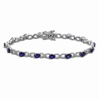 14K_White_Gold_Pear_Shape_Sapphire_and_Round_Diamond_Bracelet