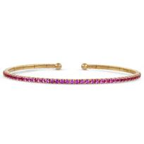 18K_Rose_Gold_Pink_Sapphire_Cuff_Bracelet