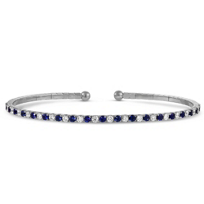 18K_White_Gold_Sapphire_and_Diamond_Cuff_Bracelet
