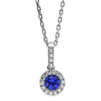 14K_White_Gold_5mm_Round_Sapphire_and_Round_Diamond_Pendant