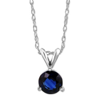 14K_White_Gold_Round_Sapphire_Solitaire_Pendant,_6mm