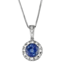 18K_White_Gold_Round_Sapphire_and_Diamond_Halo_Pendant
