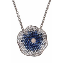 Raymond_Hak_Sterling_Silver_Blue_and_White_Sapphire_Flower_Pendant