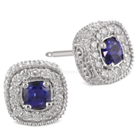 Christopher_Designs_18K_White_Gold_Cushion_Sapphire_and_Round_Diamond_Earrings
