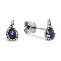 14K_White_Gold_Pear_Shape_Sapphire_and_Round_Diamond_Earrings
