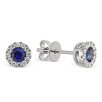 18K_White_Gold_Round_Sapphire_and_Round_Diamond_Earrings