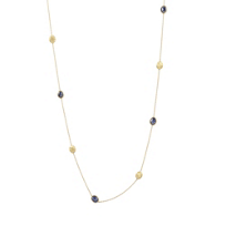 Marco_Bicego_18K_Yellow_Gold_Siviglia_Sapphire_Necklace,_36""
