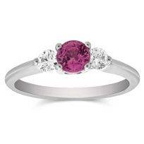 14K_White_Gold_Round_Pink_Sapphire_and_Round_Diamond_Ring
