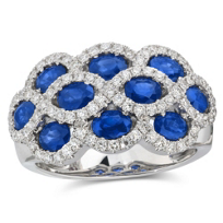 18K_White_Gold_Three_Row_Oval_Sapphire_and_Round_Diamond_Ring